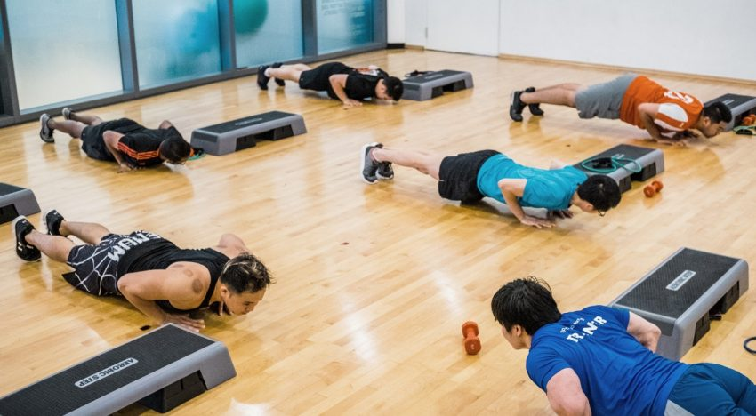 Have fun at fitness classes at playcation